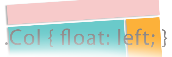 Floated elements in css