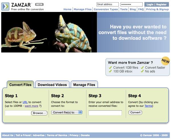 File Conversion Made Simple Online at Zamzar com | Nuvonium