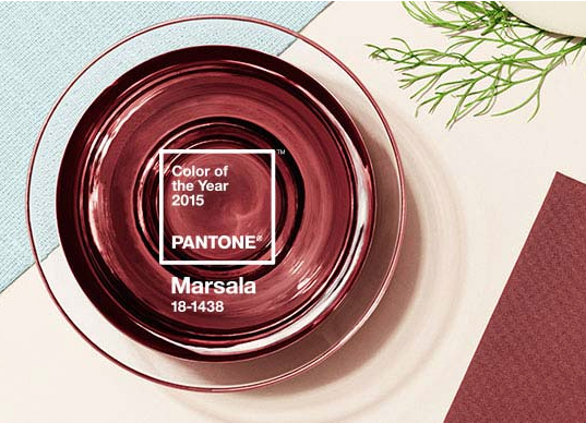Marsala is Pantone's Color of the Year for 2015