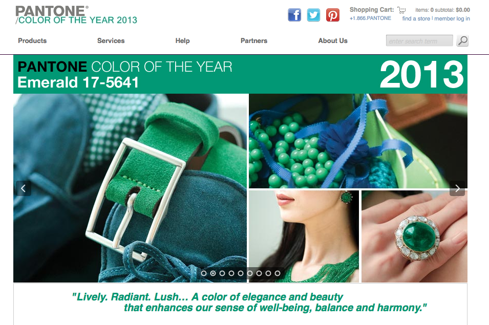 Pantone's Color Of The Year for 2013