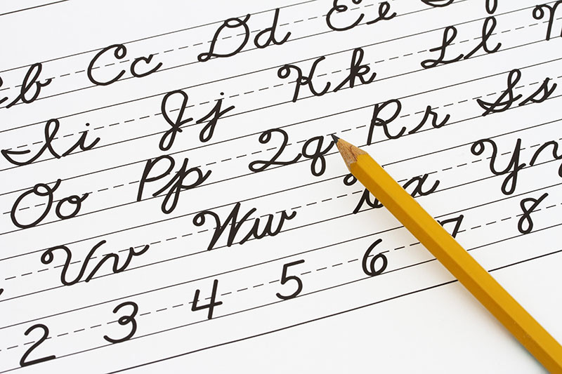 Save cursive handwriting