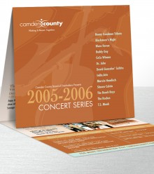 Camden County Parks Concert Series Mailer